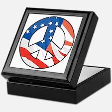 Peace flag Keepsake Box
