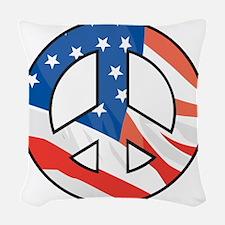 Peace flag Woven Throw Pillow