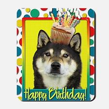BirthdayCupcakeShibaInuYasha Mousepad