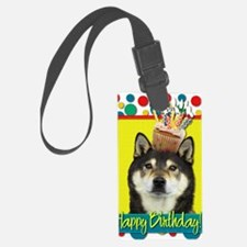 BirthdayCupcakeShibaInuYasha Luggage Tag