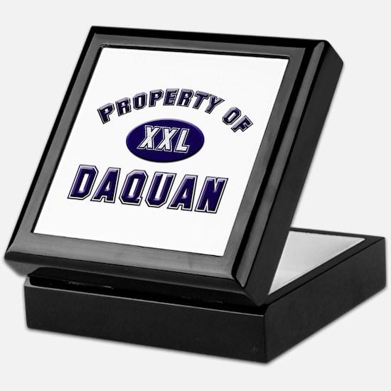 Property of daquan Keepsake Box