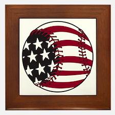 Flag baseball Framed Tile