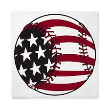 Flag baseball Queen Duvet