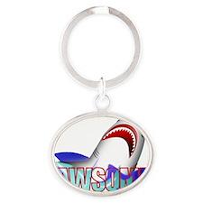 JAWSOME-2 Oval Keychain