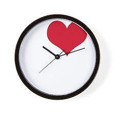 i love sex(blk) Wall Clock