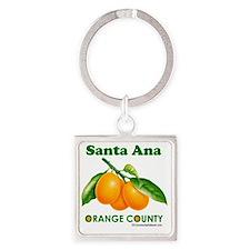 santa-ana-design Square Keychain