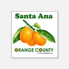 "santa-ana-design Square Sticker 3"" x 3"""