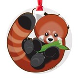 Red panda Round Ornament