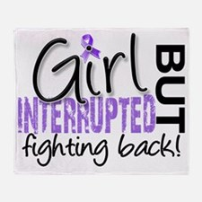 Girl Interrupted 2 Hodgkins Lymphoma Throw Blanket