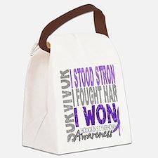 D Survivor 4 Lymphoma Hodgkins D Canvas Lunch Bag
