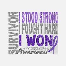 D Survivor 4 Lymphoma Hodgkins D Throw Blanket