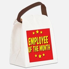 employee-of-the-month-button-001 Canvas Lunch Bag