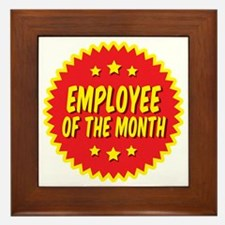 employee-of-the-month-001 Framed Tile