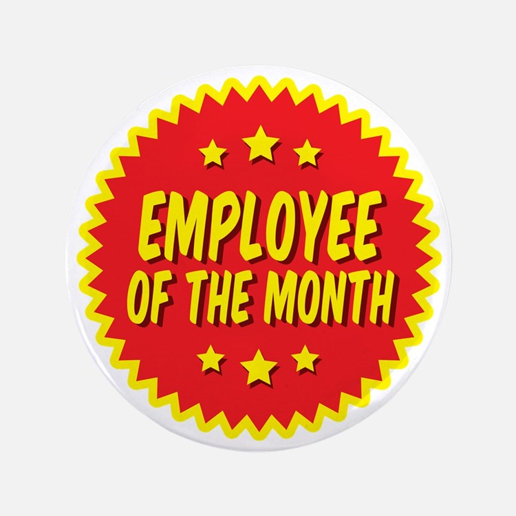 """employee-of-the-month-001 3.5"""" Button"""