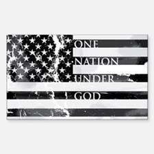 one nation gray Sticker (Rectangle)
