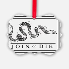 Join Or Die Ornament