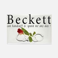 Beckett can handcuff n spank me a Rectangle Magnet
