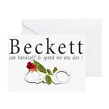 Beckett can handcuff n spank me any Greeting Card