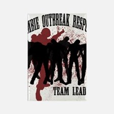 Zombie Outbreak Response Rectangle Magnet
