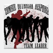 Zombie Outbreak Response Tile Coaster