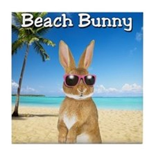 cp_Beach_Bunny01 Tile Coaster