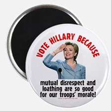 Vote Hillary Because Magnet