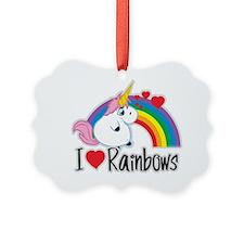 I-Love-Rainbows Ornament