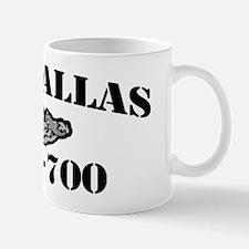dallas black letters Mug