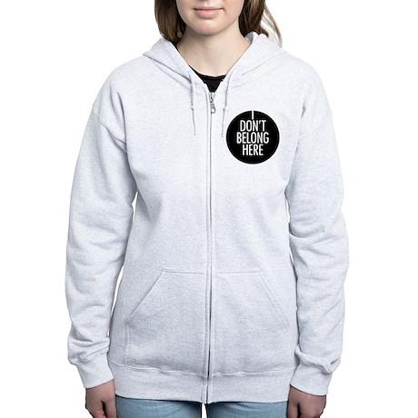 i-dont-belong-here Women's Zip Hoodie