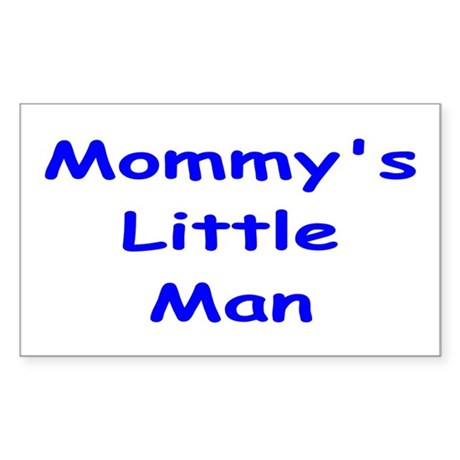 Mommy's Little Man Rectangle Sticker