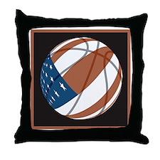 Flag basketball Throw Pillow