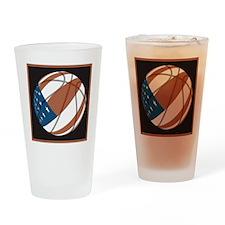 Flag basketball Drinking Glass