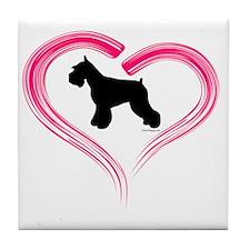 CE Schnauzer Heart Tile Coaster