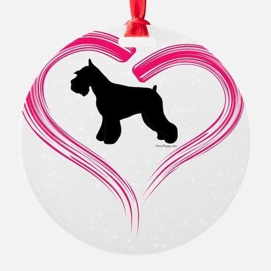 CE Schnauzer Heart Ornament