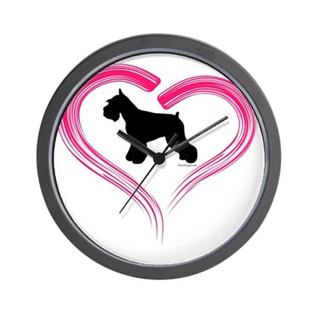 Ce Schnauzer Heart Wall Clock By Admin Cp23013232