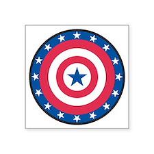 "Stars bullseye Square Sticker 3"" x 3"""