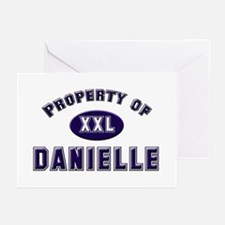 Property of danielle Greeting Cards (Pk of 10)