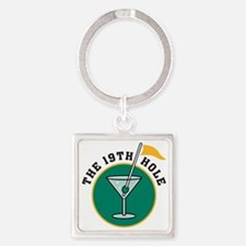 19th hole Square Keychain