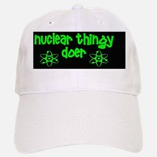funny nuclear atom radiation stickers Baseball Baseball Cap