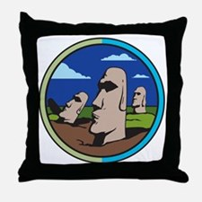 Easter island Throw Pillow