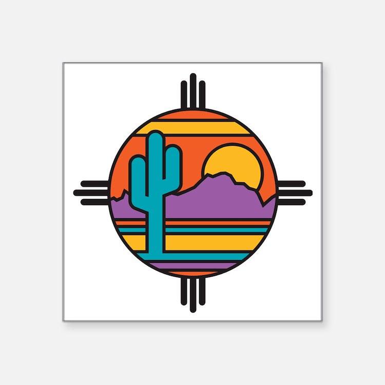 "Desert Square Sticker 3"" x 3"""