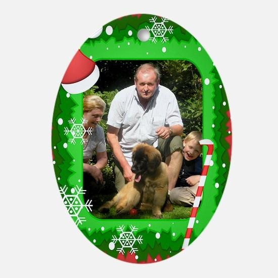 Personalizable Christmas Photo Frame Ornament (Ova