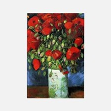 Red Poppies -PC Rectangle Magnet