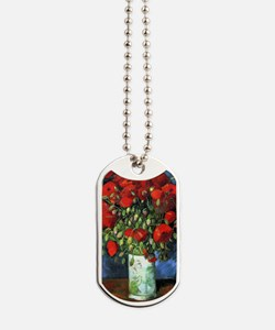 Red Poppies -PC Dog Tags