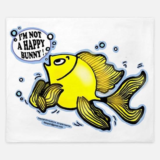 Not Happy Bunny Fish King Duvet