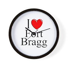 """I Love Fort Bragg"" Wall Clock"