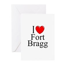 """""""I Love Fort Bragg"""" Greeting Cards (Pk of 10)"""