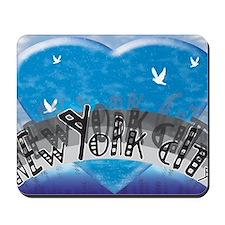 I Heart NYC Blue Mousepad