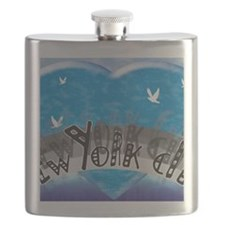I Heart NYC Blue Flask