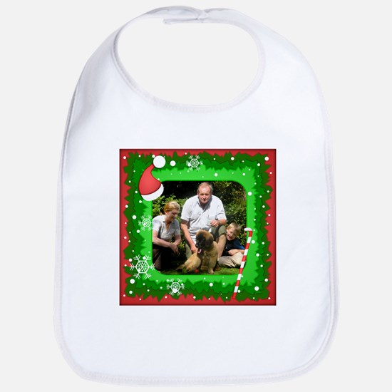Personalizable Christmas Photo Frame Bib